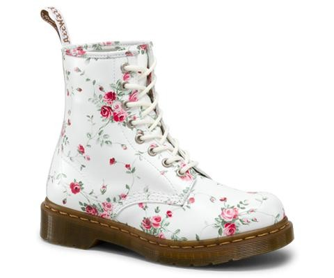 Dr. Martens 1460 W in White Portland Rose