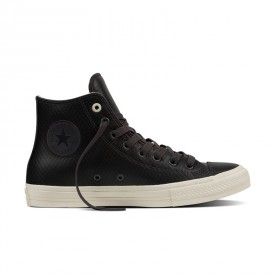 Converse Chuck Taylor All Star II High Mesh Back Leather in Almost Black
