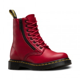 Dr. Martens Zip Pascal Aunt Sally in Dark Red