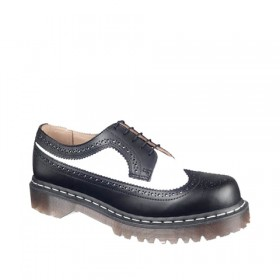 Dr. Martens 3989 Brogue Bex Sole in Black & White Smooth