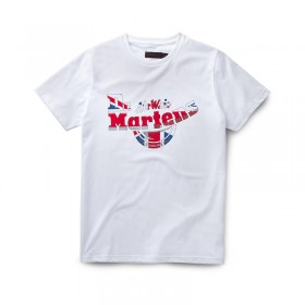 Dr. Martens Bouncing Ball Union Jack T-Shirt in White Cotton