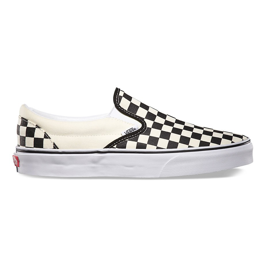 Checkerboard Classic Slip-On Black/Off White