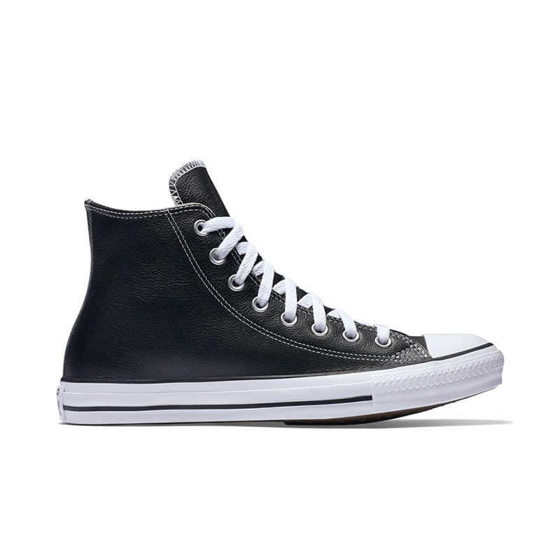 cfe234d190b3d3 Chuck Taylor All Star Leather High Top In Black Converse Black 132170c