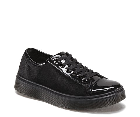 Dr. Martens Warp in Black Patent Lamper+Italian Hair On