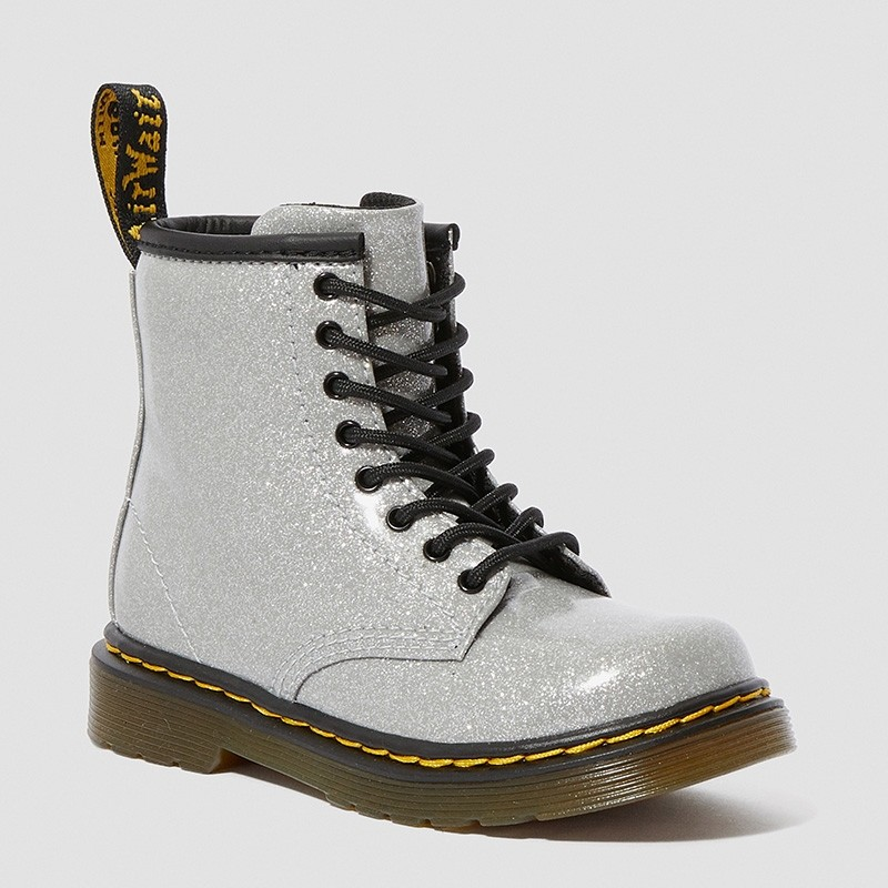 Dr. Martens 1460 Glitter Toddler in Silver
