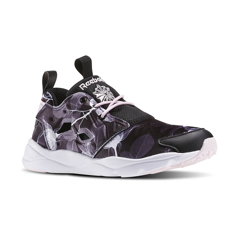 Women s Furylite Graphic In Floral-black white porcelain Pink Reebok Floral  Black aq9836 0db3913df6
