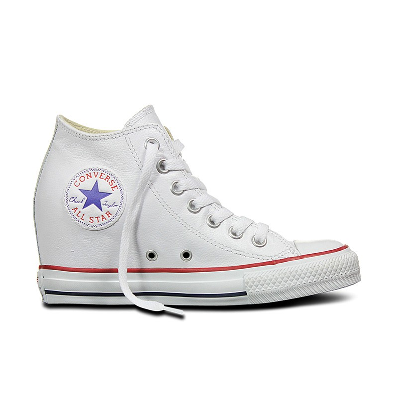 ae1afcc1dfd Converse Chuck Taylor All Star Lux Leather Mid in White