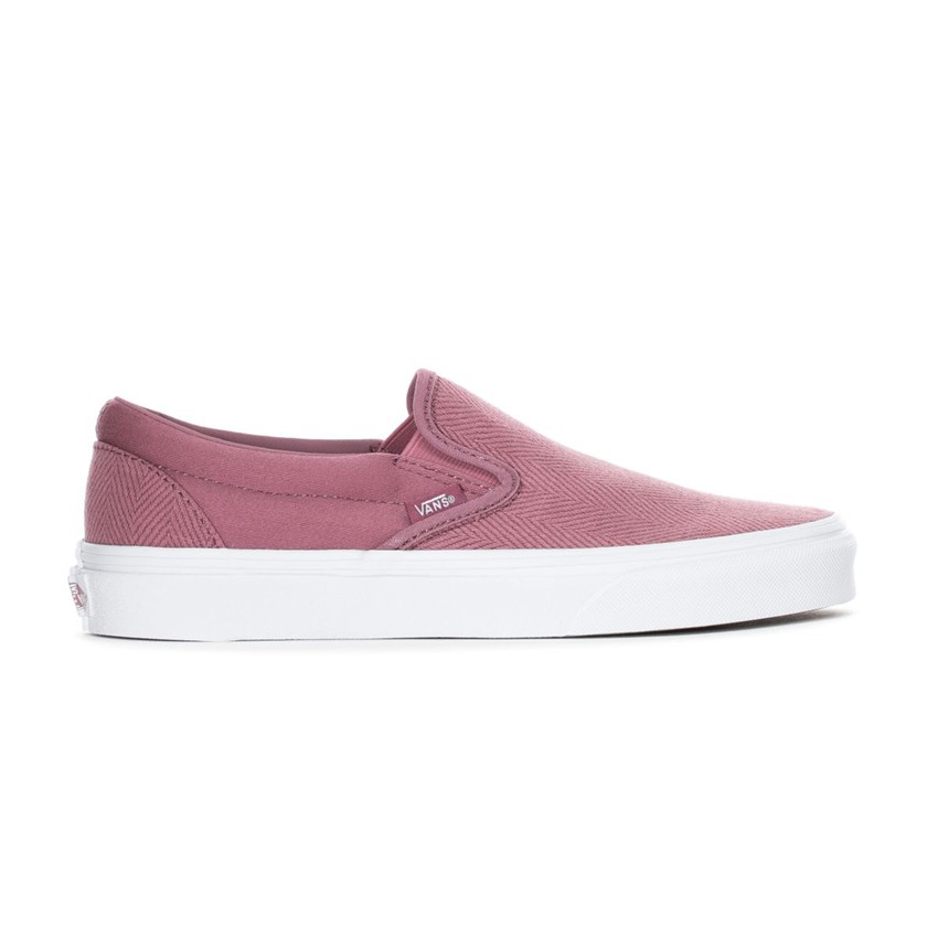 Vans Herringbone Slip-On in Pink