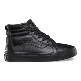 Kids Sk8-Hi Zip MTE in Black Leather
