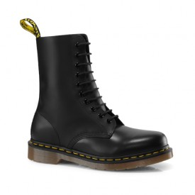 Dr. Martens 1490 Smooth Leather Mid Calf Boots in Black Smooth