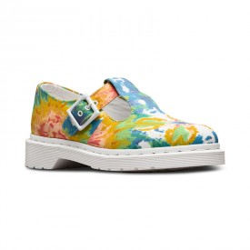 Dr. Martens Polley in Multi Mandala Tie Dye Fine Canvas