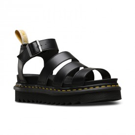 Dr. Martens Vegan Blaire Women's Felix Gladiator Sandals in Black Felix Rub Off