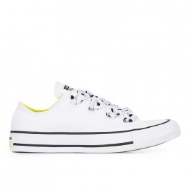 Converse Chuck Taylor All Star Big Eyelets Low Top in White/Fresh Yellow/Black