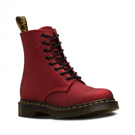 Dr. Martens 1460 Pascal Glitter in Red