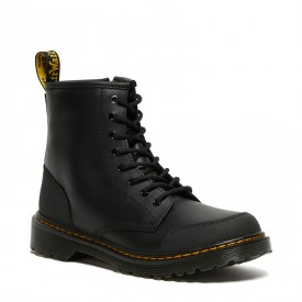 Dr. Martens Youth 1460 Overlay Leather Boots in Black