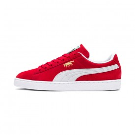 Puma Suede Classic in High Risk Red/White