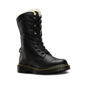 Dr. Martens Fur Lined Aimilita in Black Aunt Sally