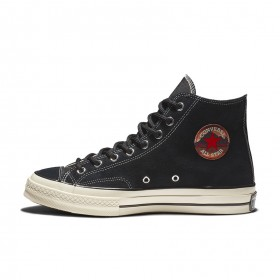Chuck 70 Suede High Top in Black/Black/Egret