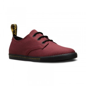 Dr. Martens Youth Santanita in Cherry Red T Canvas