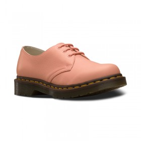 Dr. Martens 1461 Women's Virginia Leather Oxford Shoes in Salmon Pink Virginia